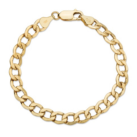 Curb-Link Chain Bracelet in 10k Yellow Gold 7