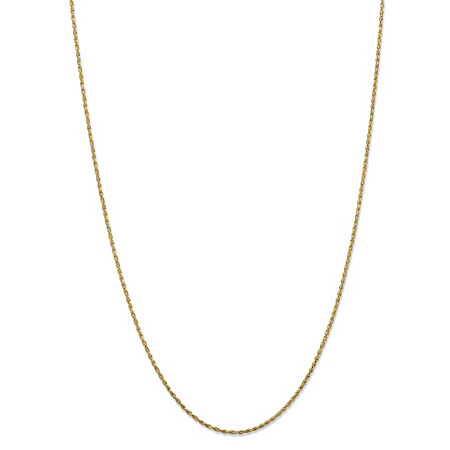 Twisted Rope Chain Necklace in Solid 10k Yellow Gold 18