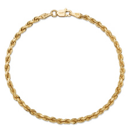 "Rope Chain Bracelet in Solid 10k Yellow Gold 8"" (2.75mm) at PalmBeach Jewelry"
