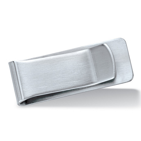 Polished Money Clip in Silvertone 2