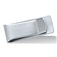 Polished Money Clip In Silvertone