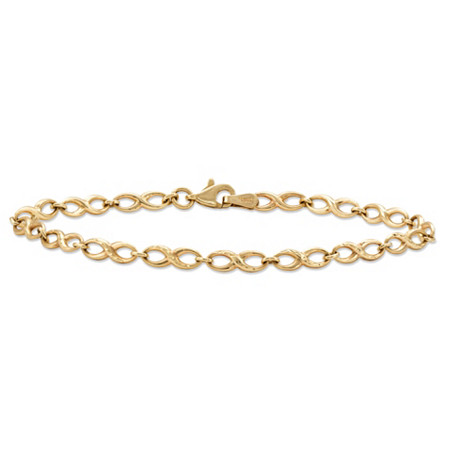 Polished Infinity-Link Bracelet in 10k Yellow Gold 7