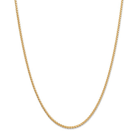 "Wheat-Link Chain Necklace in 14k Yellow Gold 18"" (1.5mm) at PalmBeach Jewelry"