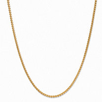 Wheat-Link Chain Necklace with Lobster Clasp in 14k Yellow Gold 20