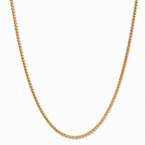 Wheat-Link Chain Necklace with Lobster Clasp in 14k Yellow Gold 24