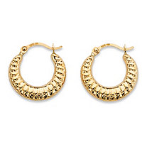 "Shrimp-Style Hoop Earrings in 10k Yellow Gold (5/8"")"