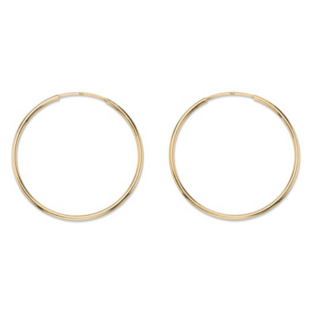 Polished Hollow Eternity Hoop Earrings in 10k Yellow Gold (1 1/8