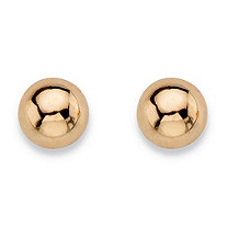 SETA JEWELRY Polished Screw Back Ball Stud Earrings in 14k Yellow Gold (3mm)