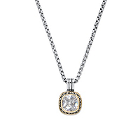 Cubic Zirconia Gold Tone And Silvertone Studded Halo Pendant Necklace ONLY $12.99