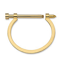 Omega Barrel Bangle Bracelet in Gold Ion-Plated Stainless Steel 7.5""