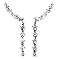 Cubic Zirconia Star Ear Pin Climber Earrings In Sterling Silver ONLY $24.99