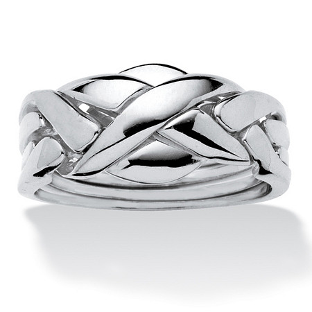 Commitment Symbol Puzzle Ring Platinum-Plated at PalmBeach Jewelry