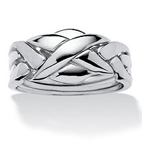 Commitment Symbol Puzzle Ring Platinum-Plated