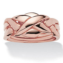 Commitment Symbol Puzzle Ring 14k Rose Gold-Plated