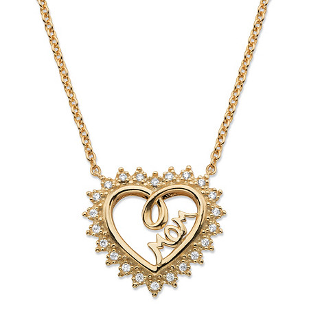 Pave Cubic Zirconia Open Heart