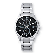 Men's Nautica Lisbon Multi-Dial Interchangeable Watch Set with Black Face in Stainless Steel 9""
