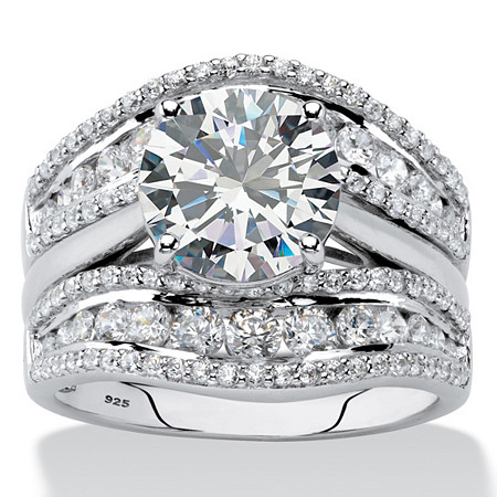 ster shop ring wedding palm halo zirconia spring cushion cz deals platinum tcw cut on in over incredible beach size piece jewelry white cubic classic set womens rings bridal