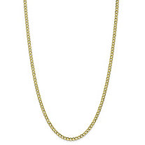 "Curb-Link Chain Necklace in 10k Yellow Gold 20"" (4.25mm)"