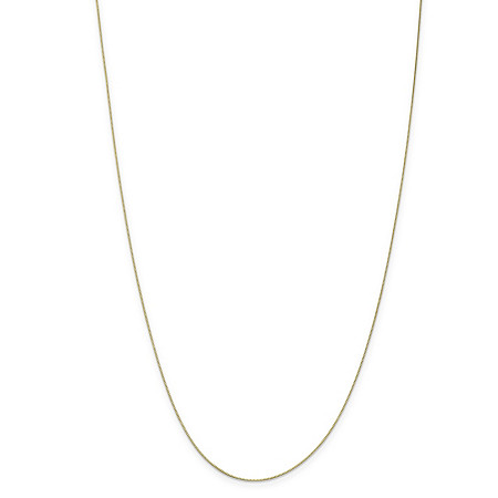 "Box-Link Chain Necklace in 10k Yellow Gold 24"" (.5mm) at PalmBeach Jewelry"