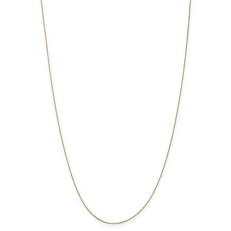 "Box-Link Chain Necklace in Solid 10k Yellow Gold 20"" (.5mm) at PalmBeach Jewelry"
