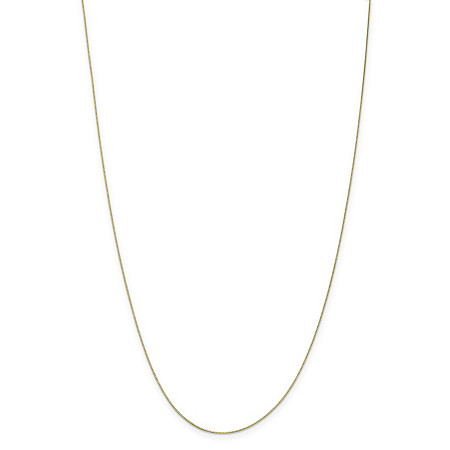 "Box-Link Chain Necklace in Solid 10k Yellow Gold 18"" (.5mm) at PalmBeach Jewelry"