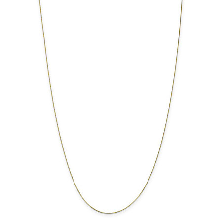 "Box-Link Chain Necklace in Solid 10k Yellow Gold 14"" (.5mm) at PalmBeach Jewelry"