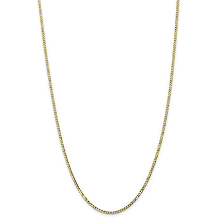 "Curb-Link Chain Necklace in 10k Yellow Gold 24"" (2.5mm) at PalmBeach Jewelry"