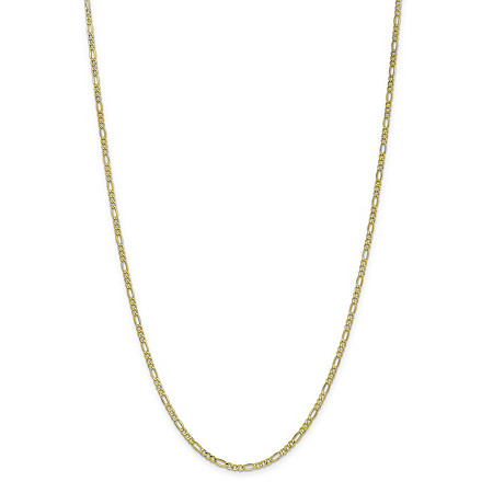 Figaro-Link Chain Necklace in 10k Yellow Gold 16