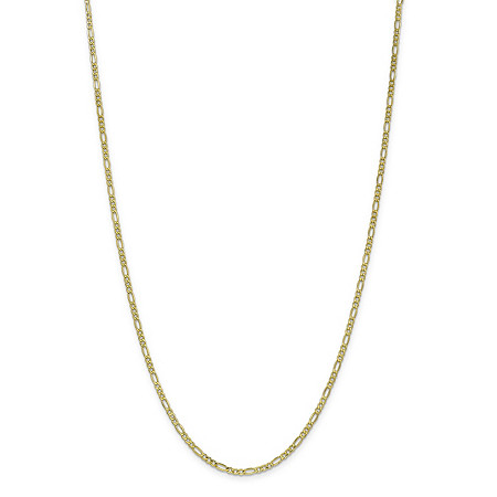 "Figaro-Link Chain Necklace in 10k Yellow Gold 18"" (2.5mm) at PalmBeach Jewelry"