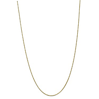 Solid 10k Yellow Gold Box-Link Chain Necklace ONLY $219.99