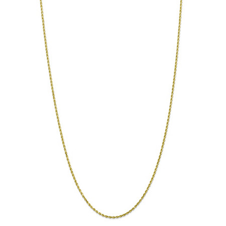 "Rope Chain Necklace in Solid 10k Yellow Gold 18"" (2mm) at PalmBeach Jewelry"