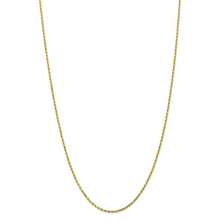 "Rope Chain Necklace in Solid 10k Yellow Gold 20"" (2mm) at PalmBeach Jewelry"