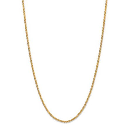 "Diamond-Cut Wheat-Link Adjustable Chain Necklace in 14k Gold over Sterling Silver 22"" (1.3mm) at PalmBeach Jewelry"