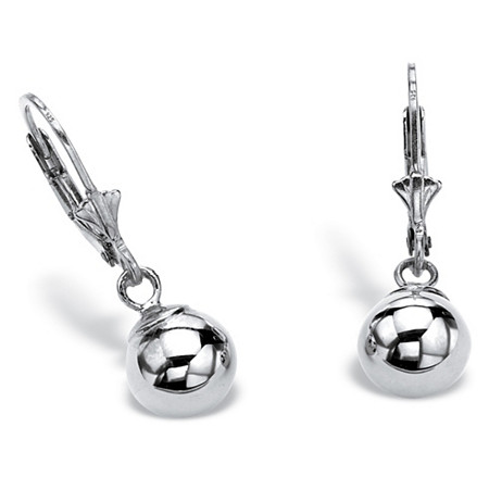 Ball Drop Earrings in Sterling Silver at PalmBeach Jewelry