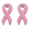 Related Item Pink Breast Cancer Awareness Ribbon Earrings in Silvertone and Enamel