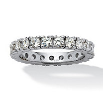 SETA JEWELRY 2 TCW Round Cubic Zirconia Eternity Band in Sterling Silver