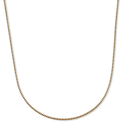 Box-Link Chain Necklace in Solid 14k Yellow Gold 20