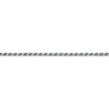 Diamond-Cut Rope Chain Necklace in .925 Sterling Silver 22