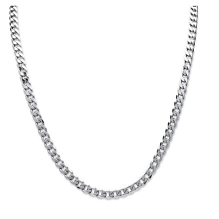 Curb-Link Chain Necklace in .925 Sterling Silver 22