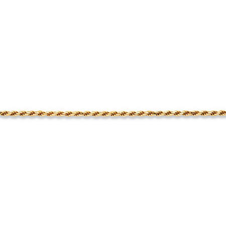 Rope Chain Necklace in 18k Yellow Gold over .925 Sterling Silver 18