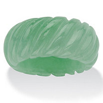 Genuine Green Jade Shrimp-Style Ring