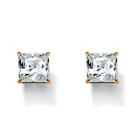 Princess-Cut Cubic Zirconia Stud Earrings ONLY $12.99