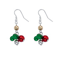 Holiday Red And Green Jingle Bell Drop Earrings ONLY $5.99