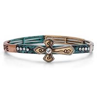 Inspirational Cross Barrel Stretch Bracelet ONLY $4.99