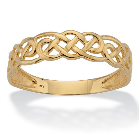 Celtic Weave Solid 10k Yellow Gold Band at PalmBeach Jewelry