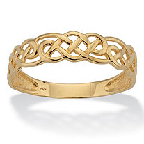 SETA JEWELRY Celtic Weave Solid 10k Yellow Gold Band