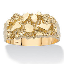Men's Solid 10k Yellow Gold Nugget Ring
