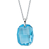 Related Item Emerald-Cut Blue Crystal Pendant Necklace Made With Swarovski Elements in Silvertone 18