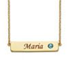 Related Item Round Birthstone 14k Gold-Plated Personalized I.D. Necklace 7.5