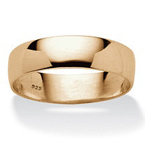 Wedding Band in 18k Gold over Sterling Silver 5mm